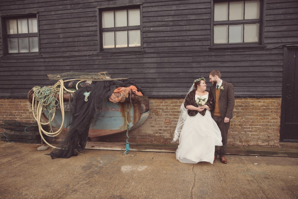 Rustic and Folksey Green Winter Wedding