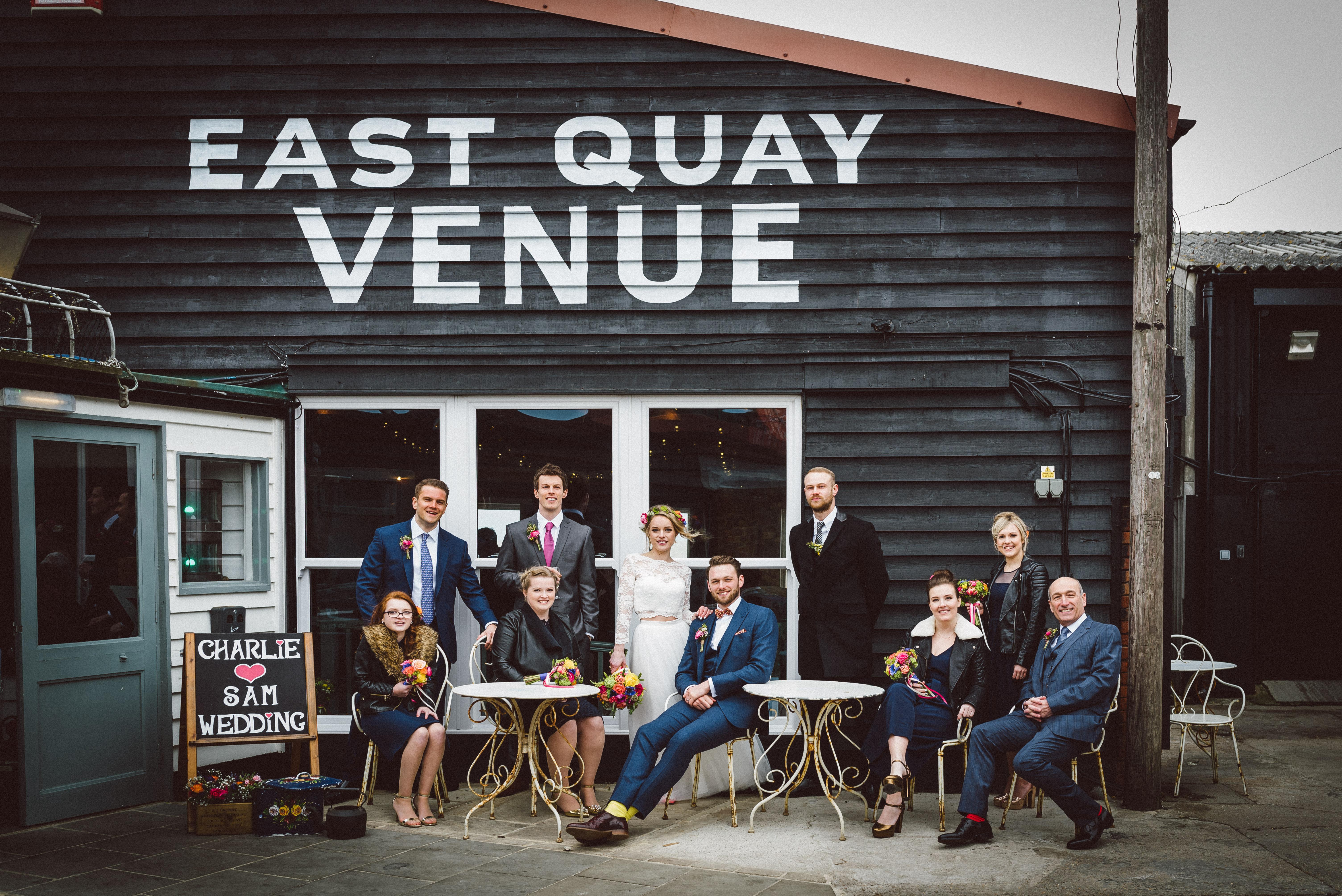 Beachside wedding venue hire Whitstable Kent