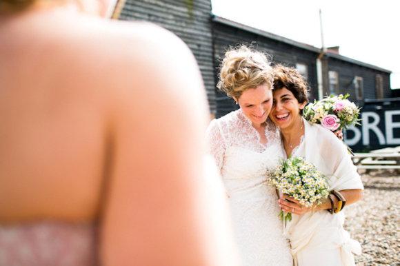 Two Bespoke Wedding Dresses for a Beautiful, Vintage Inspired Civil Partnership by the Sea