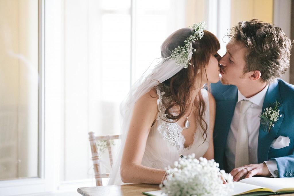 A Homespun, Rustic, Seaside Pretty Wedding with lots of Gypsophelia