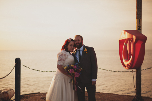 A Eclectic Multicoloured Seaside Wedding