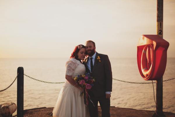 A Eclectic Multicoloured Seaside Wedding