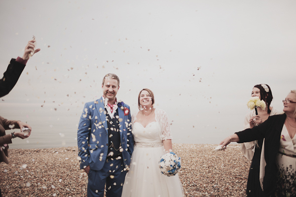 A Fuss Free Blue Seaside Wedding